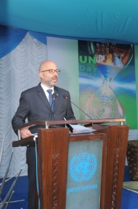 Robert Piper, UN Resident and Humanitarian Coordinator On the occasion of UN Day 2012