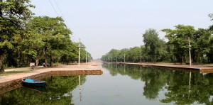 Central canal in Lumbini. Photo: UNDP/UNESCO Lumbini Support Project