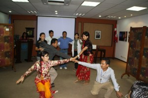 UN trainees staging a drama in the UN Conference Hall. Photo: UNIC