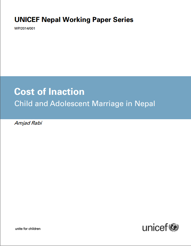 Cost of Inaction - Child and Adolescent Marriage in Nepal